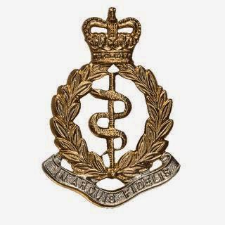 Royal Army Medical Corps badge.