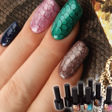 NAIL: Python Nail Art, Python gel nail art, Snake Pattern nail art