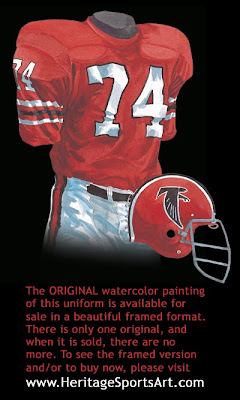 Atlanta Falcons 1971 uniform