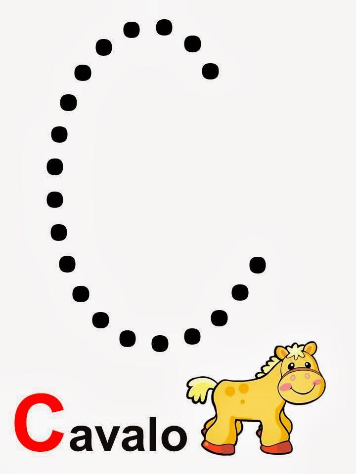 Alfabeto letra C cavalo
