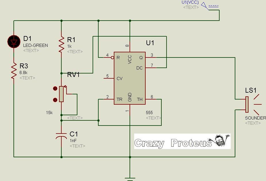 Mosquito Repellent Circuit Using 555 Timer Crazy Proteus