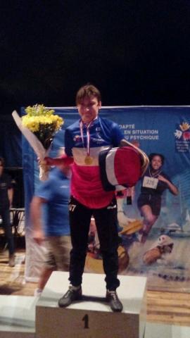 Aurélie Championne de France, de sport adapté; Bravo !!