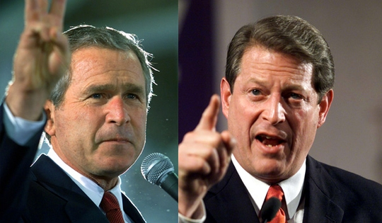 a conflict between george w bush and al gores candidacies Mike tompkins is a us politician who was the natural law  president george h w bush and vice president dan quayle  al gore – the clintons and the gores,.