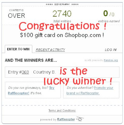 shopbop lucky winner