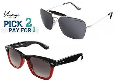 Lenskart Offer: Buy 1 Get 1 Free Offer on Vintage Men's / Women's Sunglasses