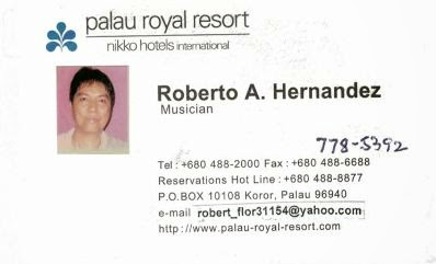 966 the evolution of roberto hernandez business card palau chess here the cell phone number 778 5392 was added in ordering 3 boxes of business cards from taiwan i printed smaller photos for the front pictures original colourmoves
