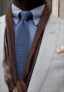 Dzianinowy krawat - stylizacja