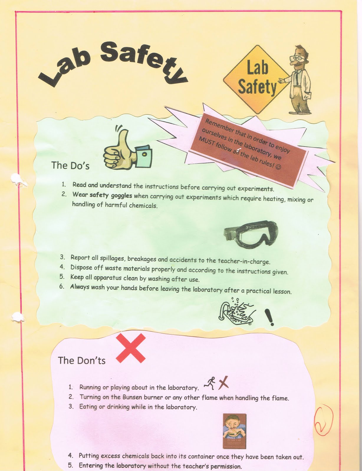 Safety Lab Poster http://1p204eport-folio.blogspot.com/p/personal-work-samples.html