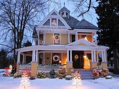 Snow already - Casas adornadas de navidad ...