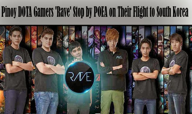 Pinoy DOTA Gamers 'Rave' Stop by POEA on Their Flight to South Korea