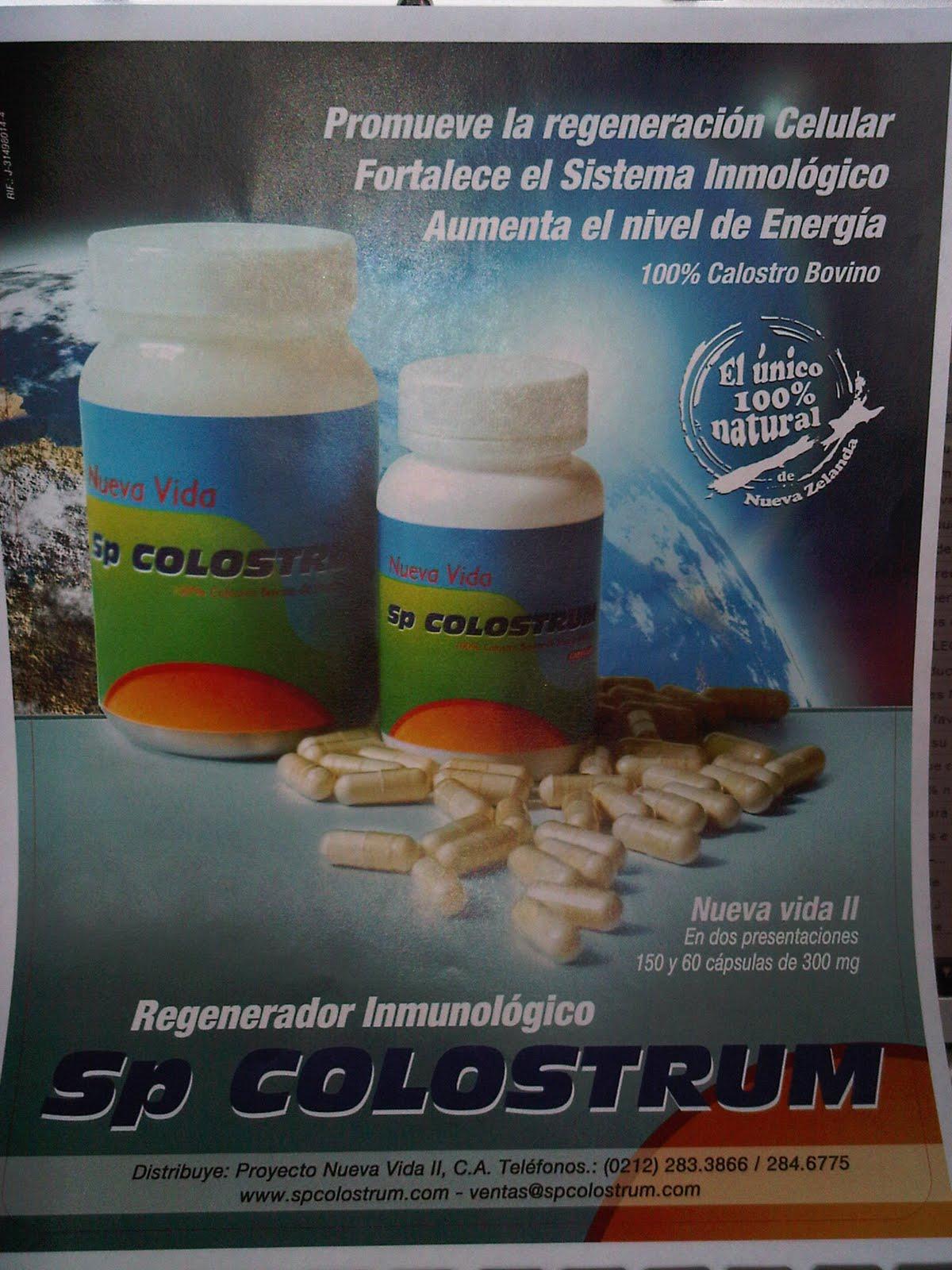Sp Colostrum, regenerador del sistema inmunológico ÚNICO 100 % natural de Nueva Zelanda