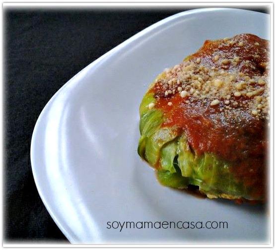 receta repollo relleno de carne molida (cabbage)