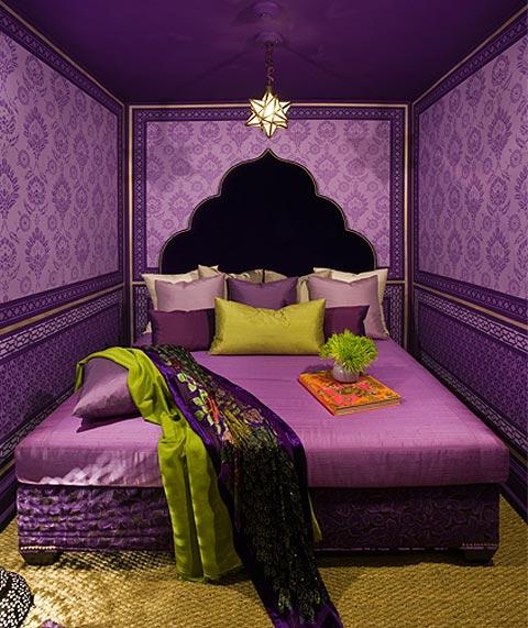 Dormitorios Con Acentos En Morado P�rpura Y Lila: HABITACIONES CON PAREDES VIOLETAS