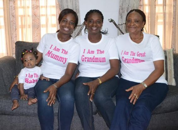 Beautiful! Check out this photo of a family of four generations