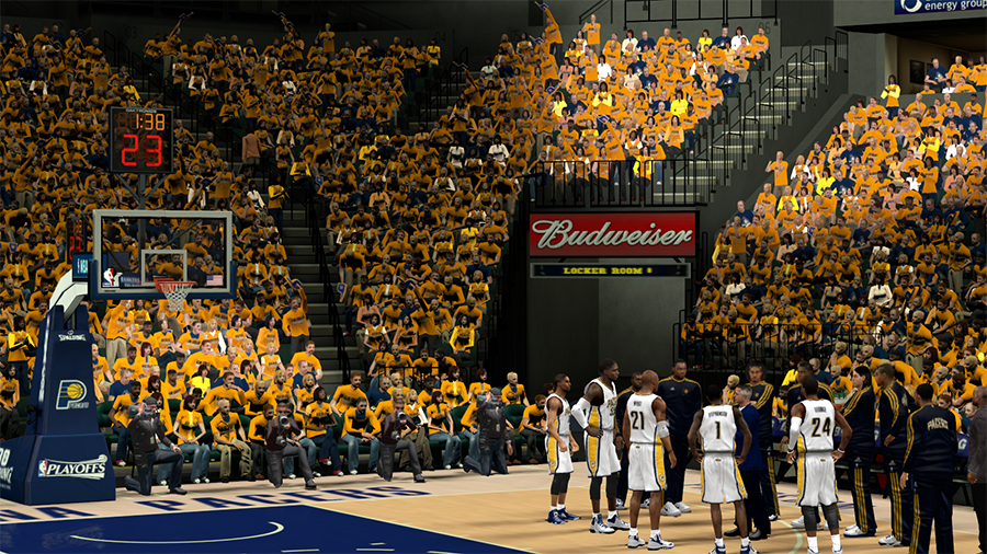NBA 2K14 Indiana Pacers Playoffs Crowd Patch