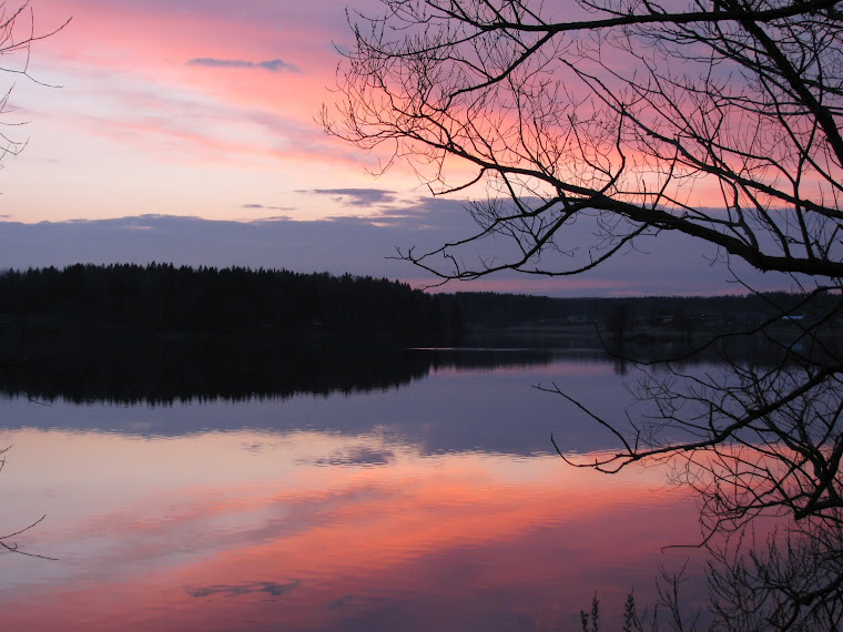 Skymning över Lindesjön, maj 2012