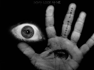 Eye Behind Hand Dark Gothic Wallpaper