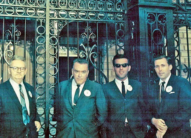 "JFK Secret Service agents ""Muggsy"" O'Leary, Stu Stout, Ken Giannoules, and Jerry Blaine"
