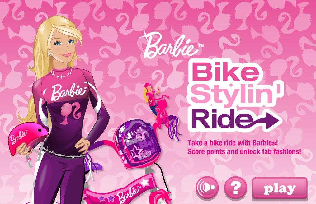 barbie bike games