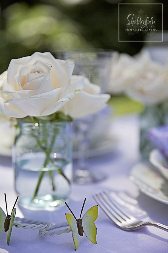 White Flowers Blend With Any Table Setting.