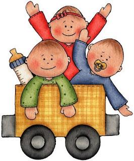 Imagens para decoupage de Bebês e trem