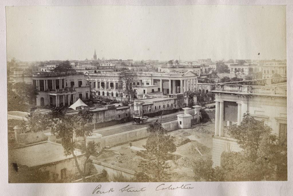 Park Street in Calcutta (Kolkata) - c1880's