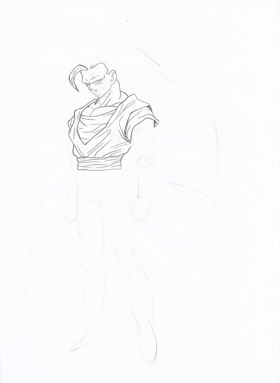 como desenhar goku super sayajin 3 ranimaart