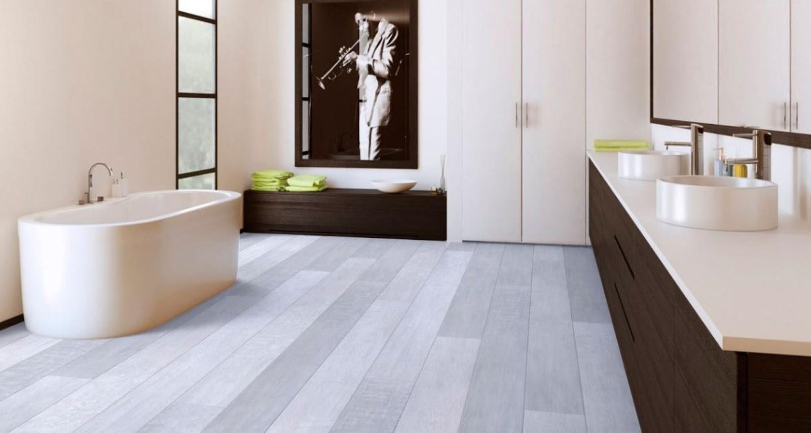 Modern Laminate Flooring trendy grey accents open space kitchen Modern Laminate Floor Design