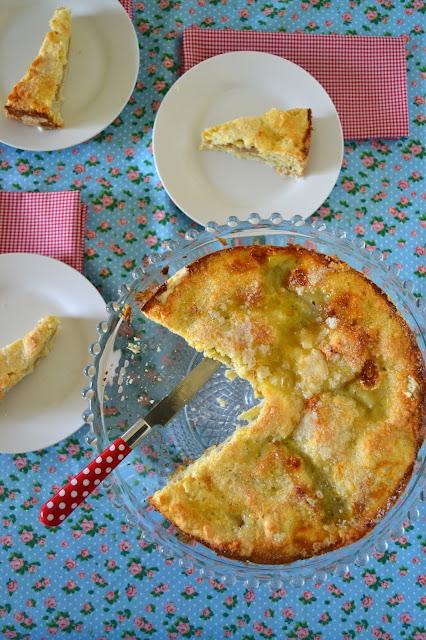 Torta que nació dudosa y resultó exitosa (torta de manzana)