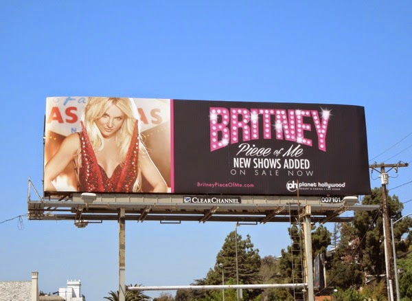 Britney Spears Piece of Me Las Vegas show billboard