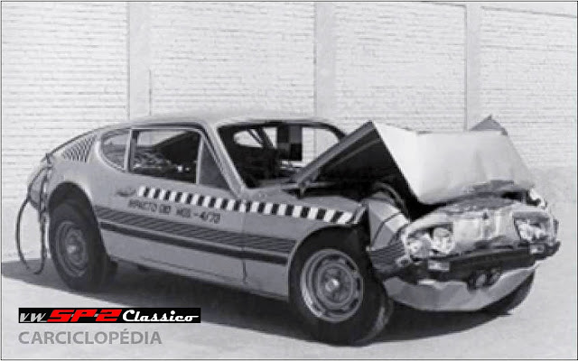 Teste de Colisão do Volkswagen SP2 - Crash Test