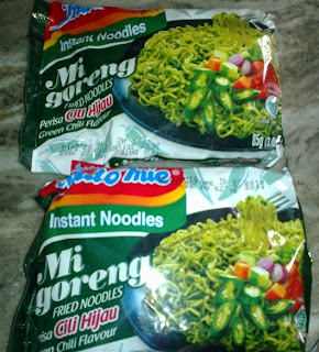 Indomie rasa cabe hijau di India