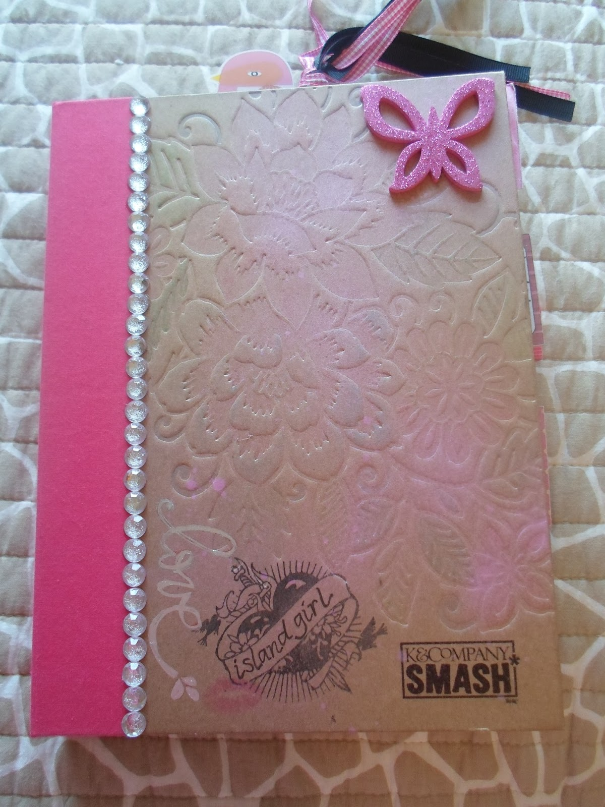 Pretty Book Cover Zip : A crafty island girl smash books