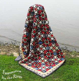 Orca Bay quilt finished by Freemotion by the River