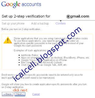 Confirm Setup - Protect Google Account With 2-Step Verification