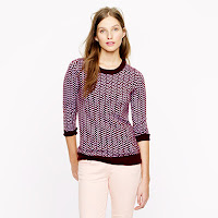 J. Crew Collection Cashmere Herringbone Sweater