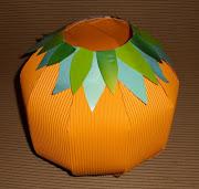 Hoy les presento un trabajo muy sencillo para decorar la casa en Halloween. calabaza caramelera en cartulina manualidades para niã±os halloween dia de brujas reciclaje facil rapido barato