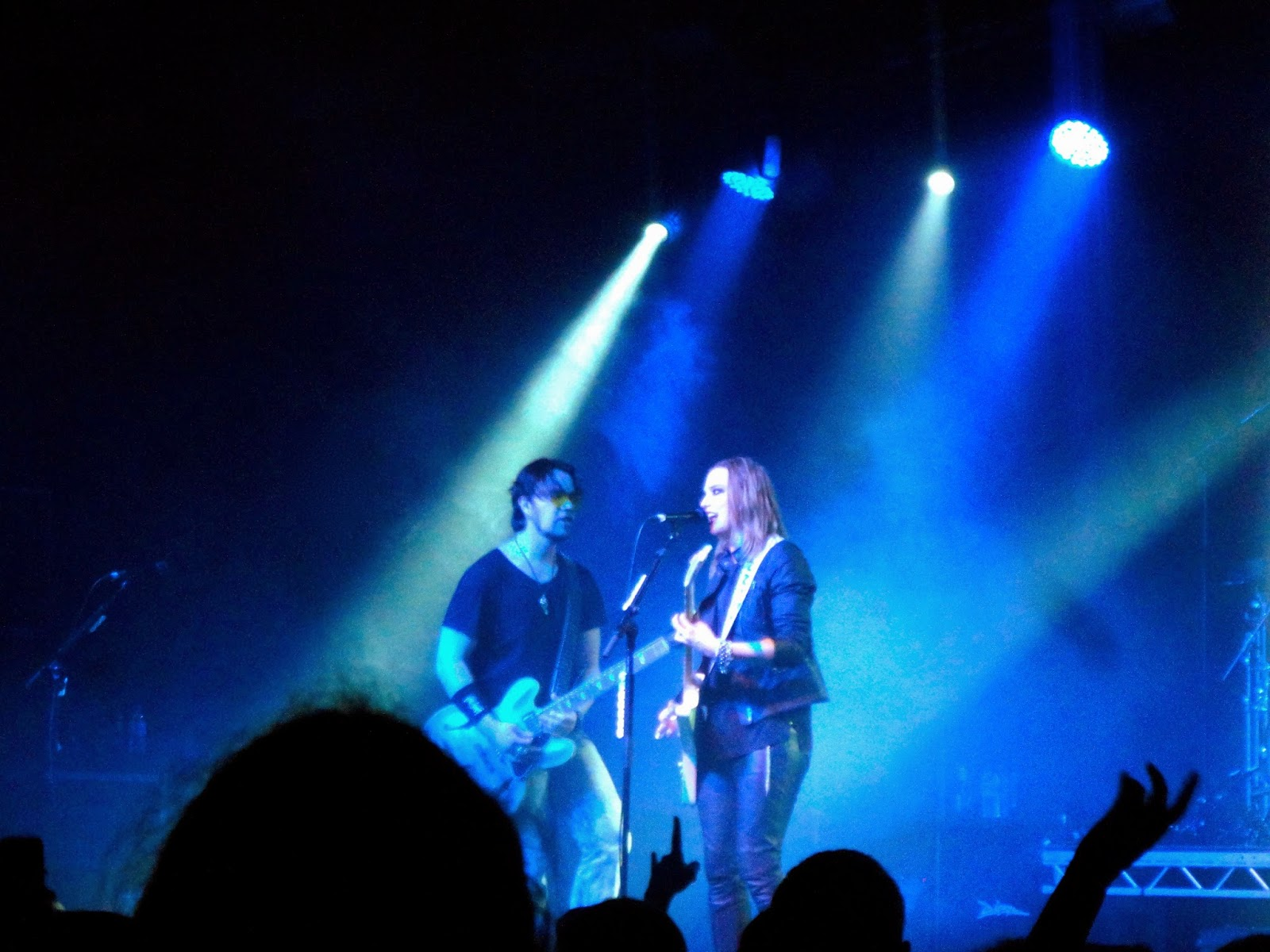 Halestorm performing live at the Glasgow Barrowlands