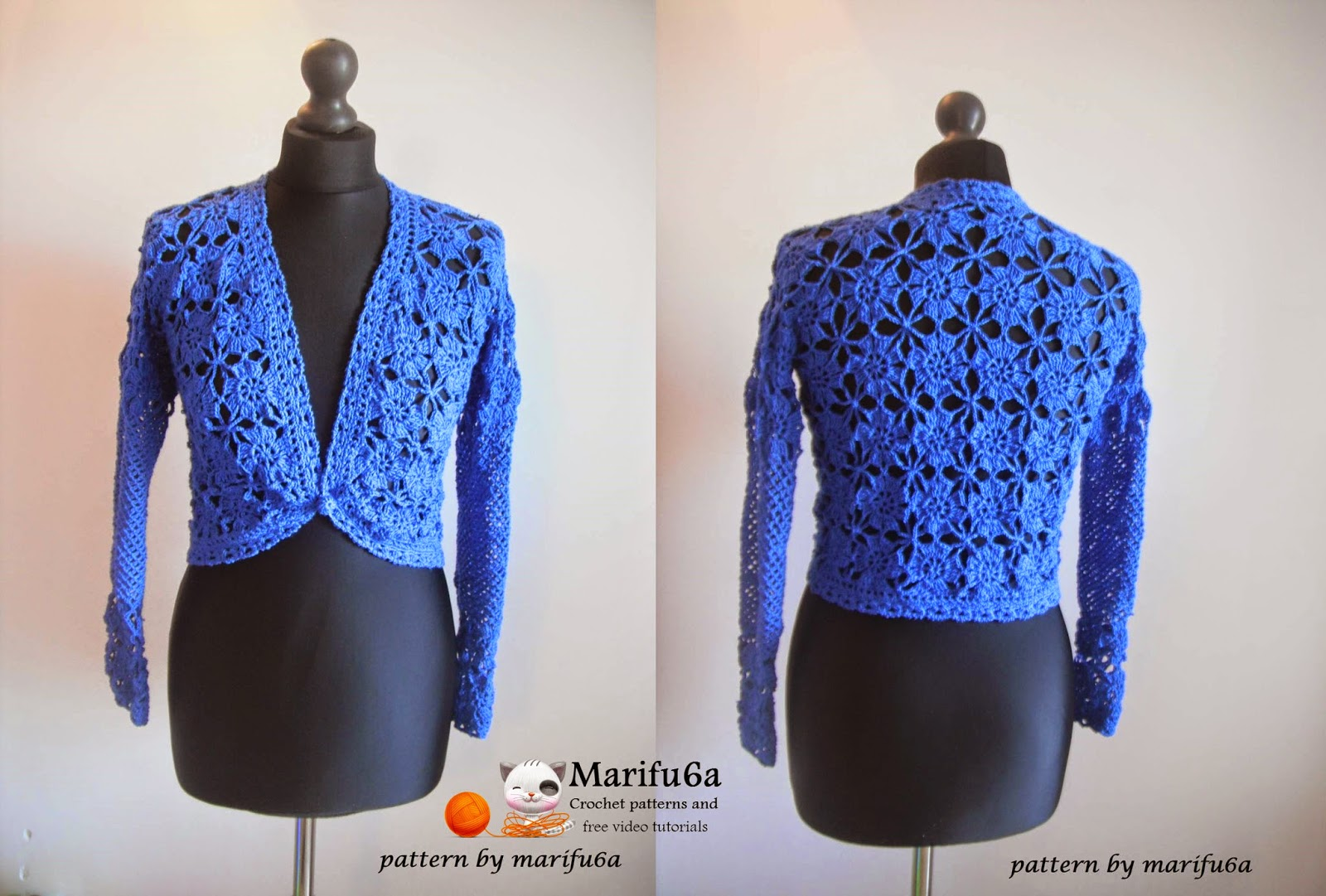 crochet patterns and video tutorials: how to crochet elegant jacket ...
