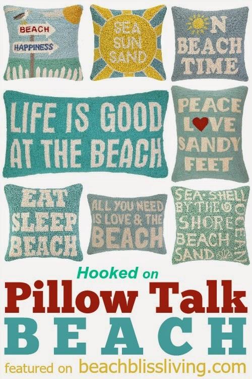 Blue Beach Pillows Life is Good at the Beach