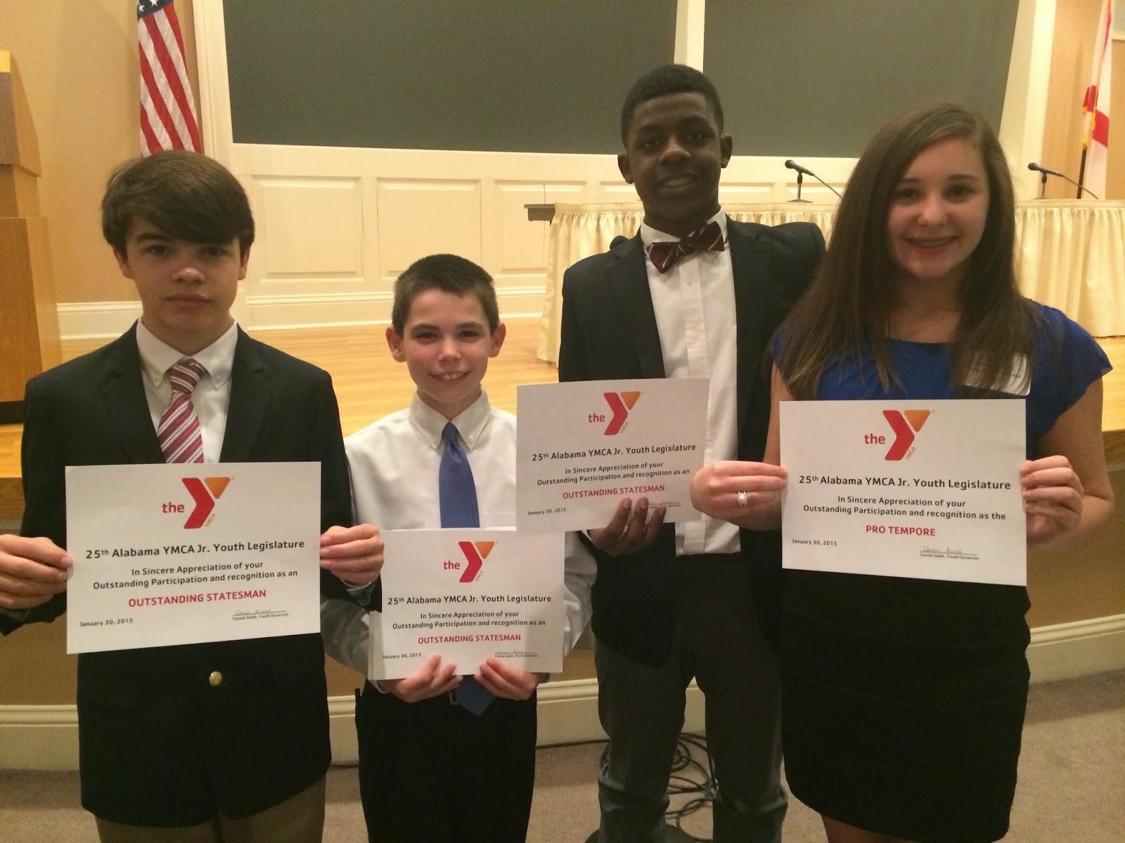 Montgomery Catholic Students Recognized at YMCA Junior Youth Legislature 1