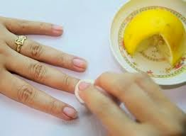 simple nail treatment with lemon