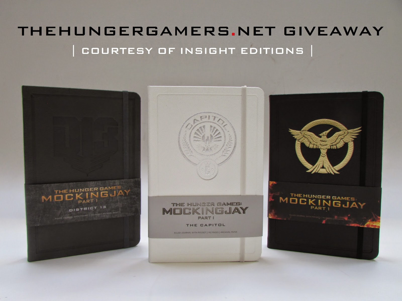hunger games mockingjay part one journals merchandise giveaway