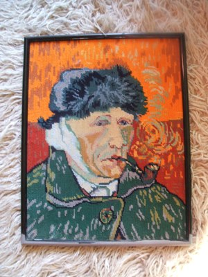Vincent Van Gogh canvas tapestry vintage