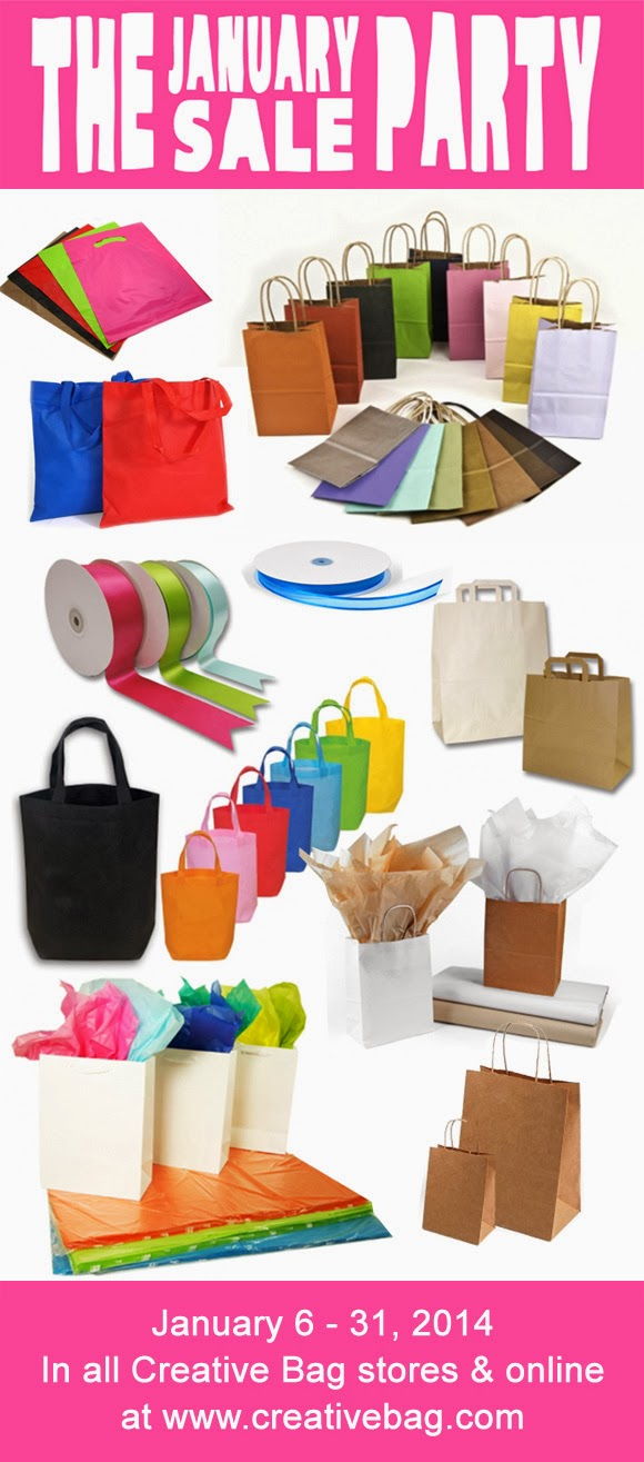 Creative Bag's January Sale Party - time to stock up on packaging supplies
