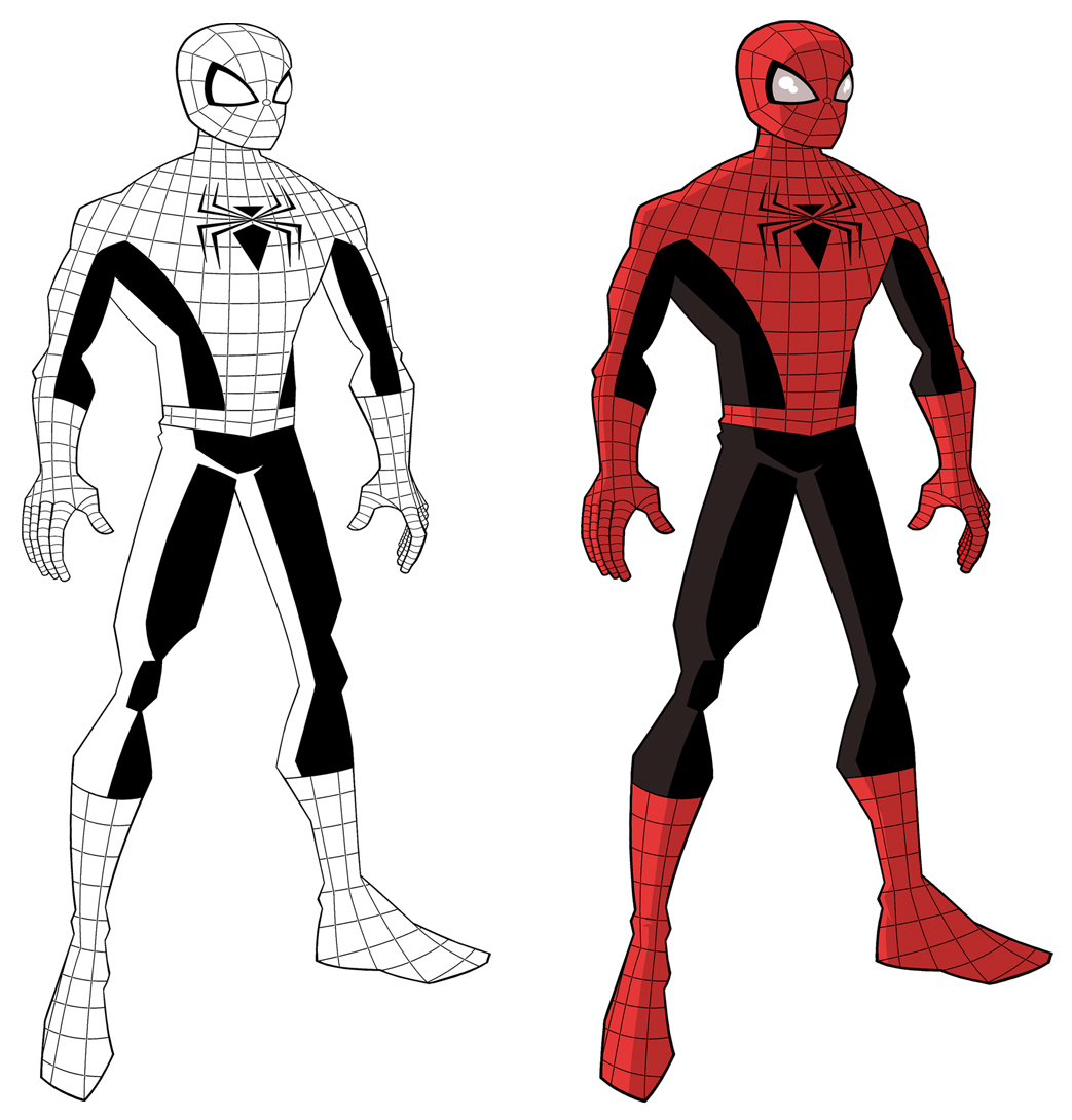 how to draw spiderman homemade suit