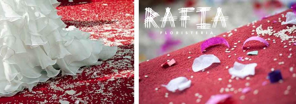 petalos y alfombra roja bodas ourense
