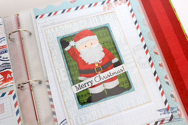 Document December BoBunny Elf Magic Misc Me Christmas Card Page by Juliana Michaels