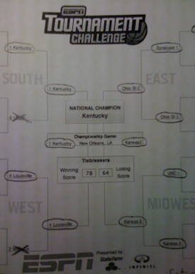 Lots of circles during those later rounds of this year's bracket