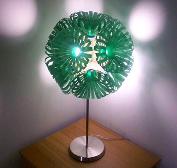 Decorative lighting recycled plastic bottles recycling for Recycled crafts from plastic bottles